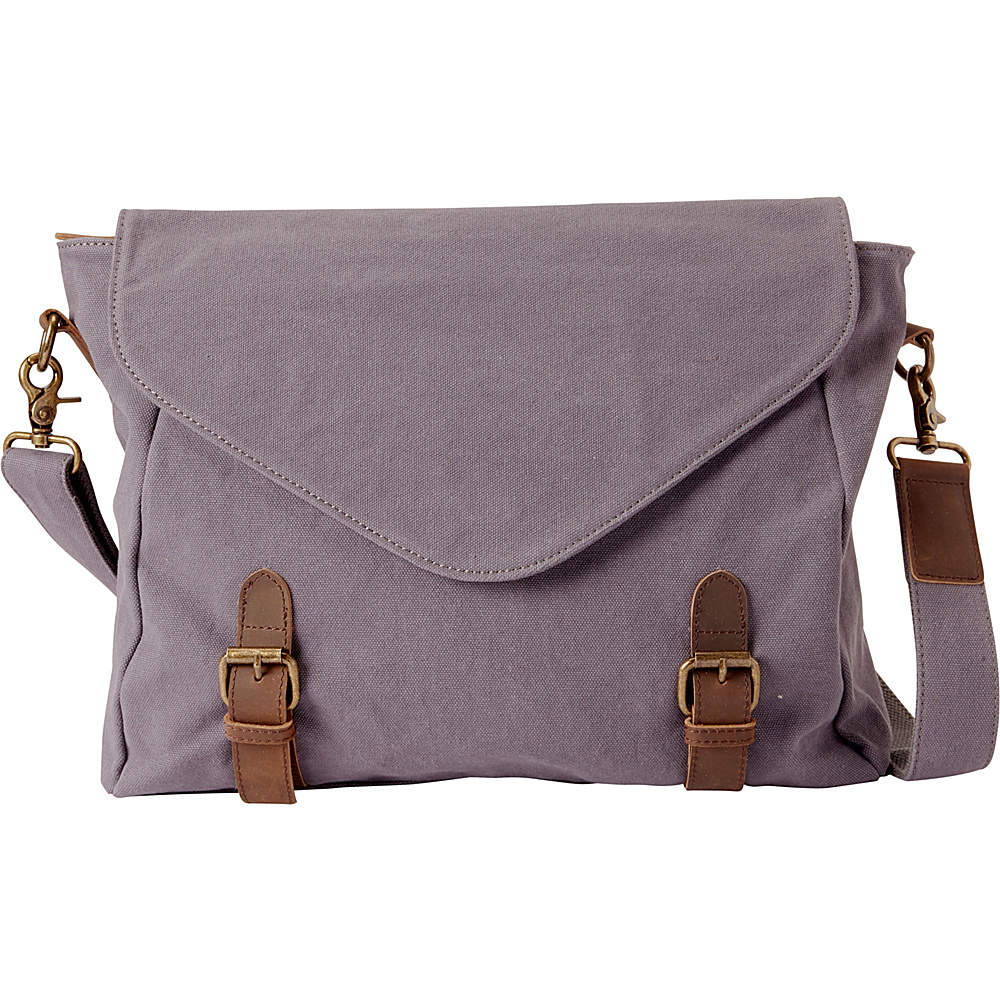 Vagabond Traveler Casual Style Canvas Messenger Bag Blue Grey - Vagabond Traveler Messenger Bags - Work Bags & Briefcases, Messenger Bags