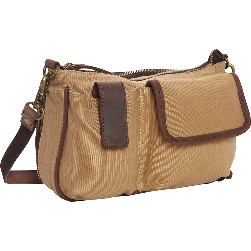 Vagabond Traveler Casual Style Daily Shoulder Purse Khaki - Vagabond Traveler Fabric Handbags
