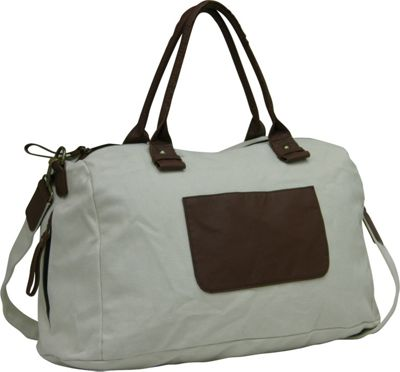 "Travelers Club Luggage 18"""" Canvas Tote Green - Travelers Club Luggage Travel Duffels"