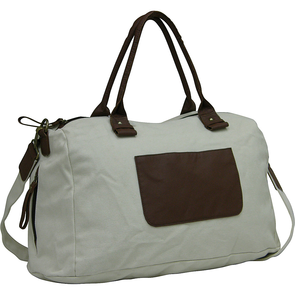 "Travelers Club Luggage 18"" Canvas Tote Green - Travelers Club Luggage Travel Duffels"