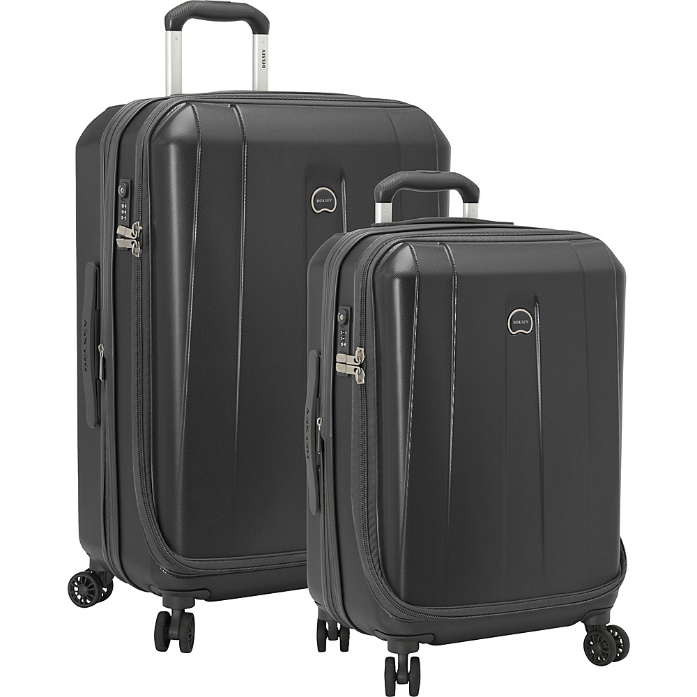 Delsey Helium Shadow 3.0 2 Piece Expandable Hardside Luggage Set Black - Delsey Luggage Sets