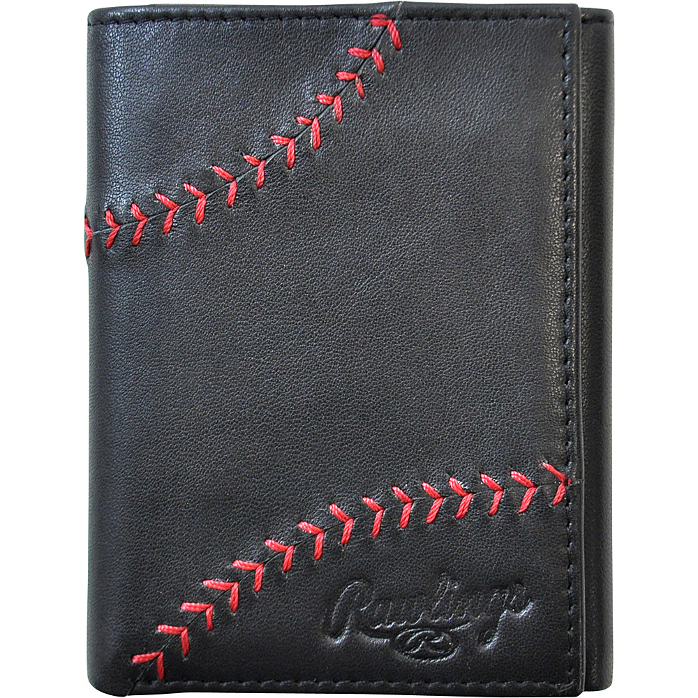 Rawlings Baseball Stitch Trifold Wallet Black Rawlings Men s Wallets