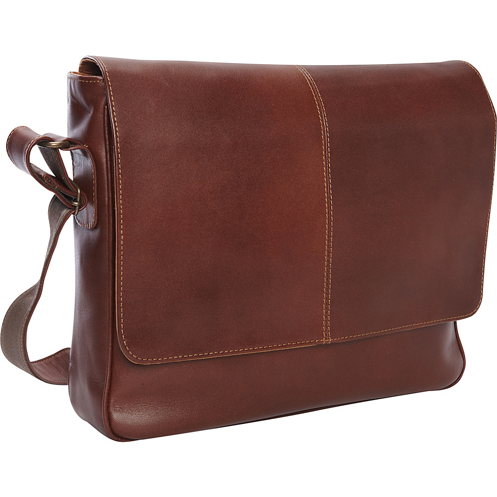 Piel Deluxe Small Messenger - Exclusive Brown - Piel Messenger Bags - Work Bags & Briefcases, Messenger Bags
