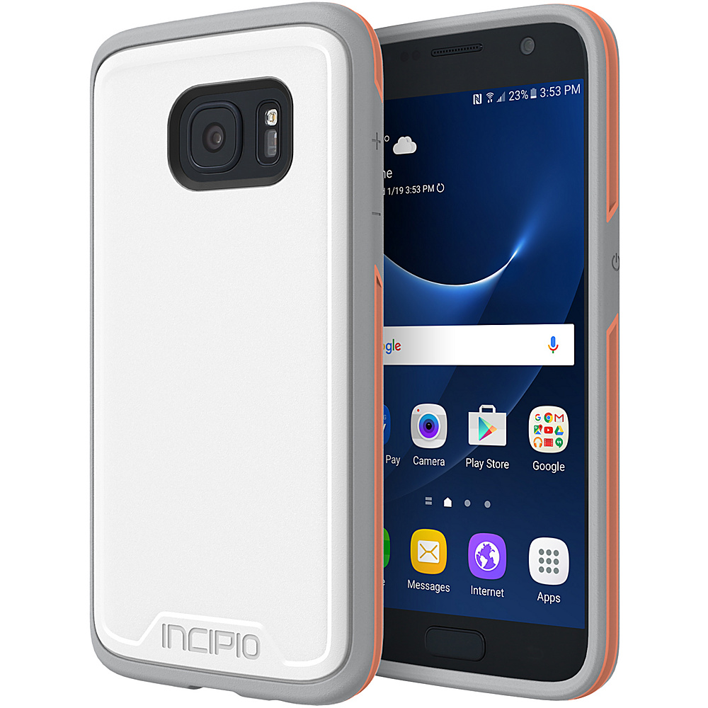 Incipio Performance Series Level 3 for Samsung Galaxy S7 White/Orange - Incipio Electronic Cases - Technology, Electronic Cases