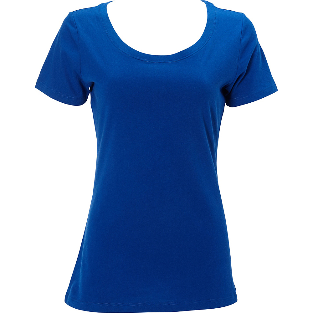 Simplex Apparel The Womens Scoop Tee L - Royal - Simplex Apparel Womens Apparel - Apparel & Footwear, Women's Apparel