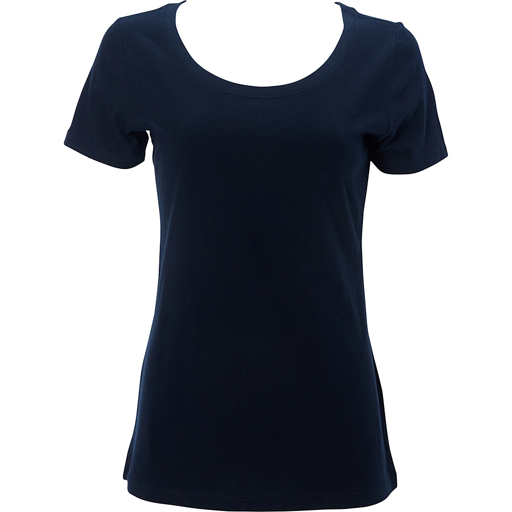 Simplex Apparel The Womens Scoop Tee L - Navy - Simplex Apparel Womens Apparel - Apparel & Footwear, Women's Apparel