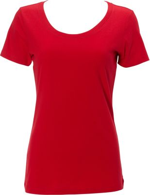 Simplex Apparel The Womens Scoop Tee L - Red - Simplex Apparel Women's Apparel