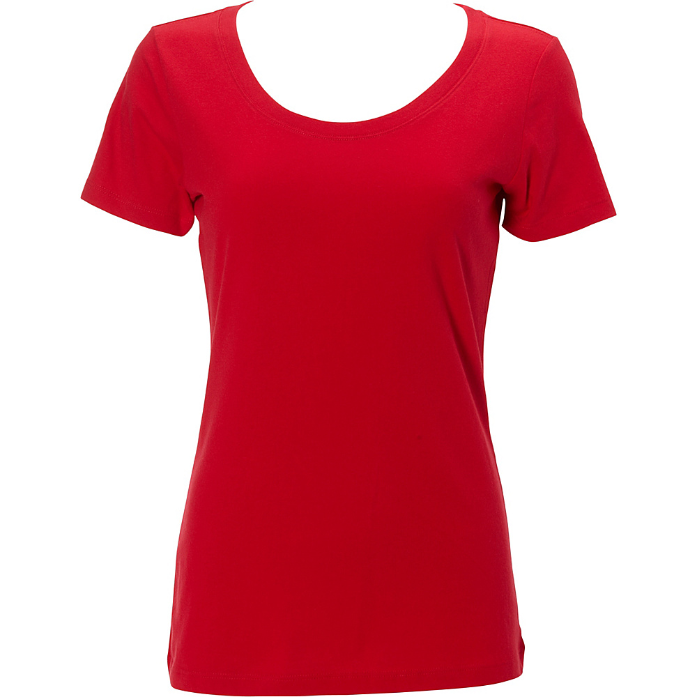 Simplex Apparel The Womens Scoop Tee XS - Red - Simplex Apparel Womens Apparel - Apparel & Footwear, Women's Apparel