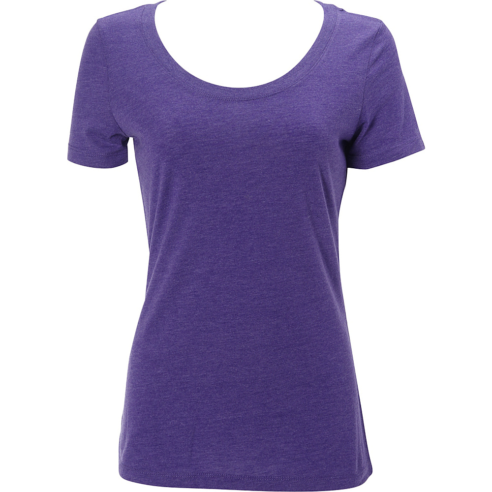 Simplex Apparel Triblend Womens Scoop Tee M - Crimson Purple - Simplex Apparel Womens Apparel - Apparel & Footwear, Women's Apparel
