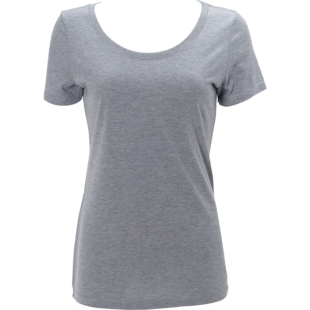 Simplex Apparel Triblend Womens Scoop Tee M - Heather Grey - Simplex Apparel Womens Apparel - Apparel & Footwear, Women's Apparel