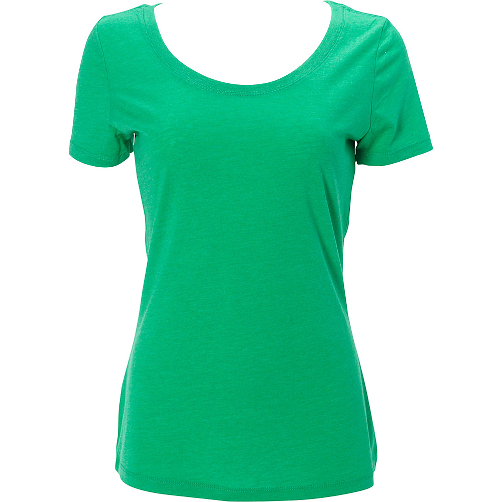 Simplex Apparel Triblend Womens Scoop Tee XS - Lush Green - Simplex Apparel Womens Apparel - Apparel & Footwear, Women's Apparel
