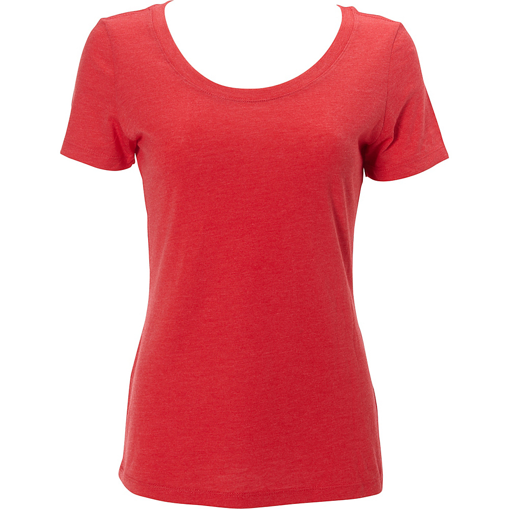 Simplex Apparel Triblend Womens Scoop Tee 2XL - Ruby Red - Simplex Apparel Womens Apparel - Apparel & Footwear, Women's Apparel