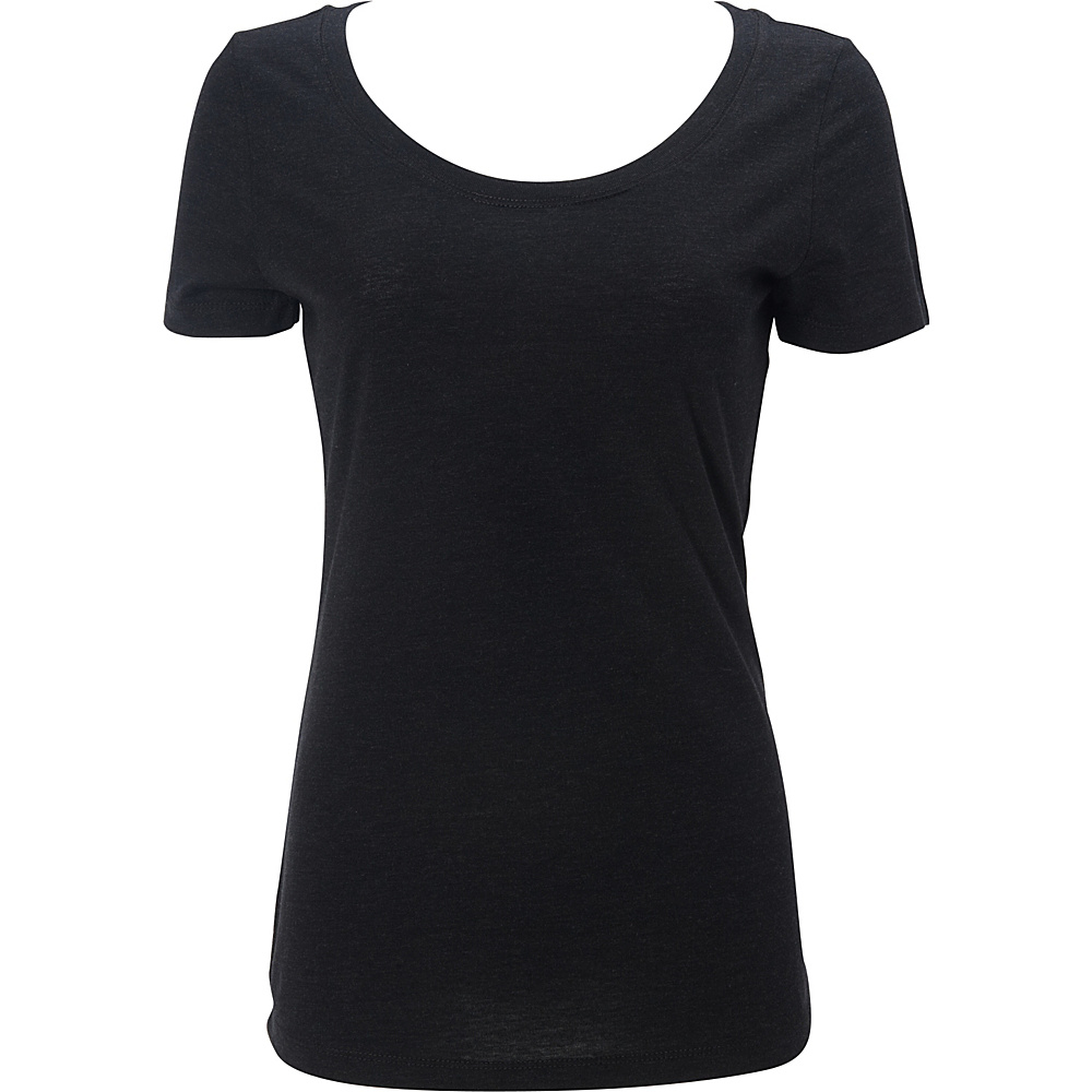 Simplex Apparel Triblend Womens Scoop Tee L - Vintage Black - Simplex Apparel Womens Apparel - Apparel & Footwear, Women's Apparel