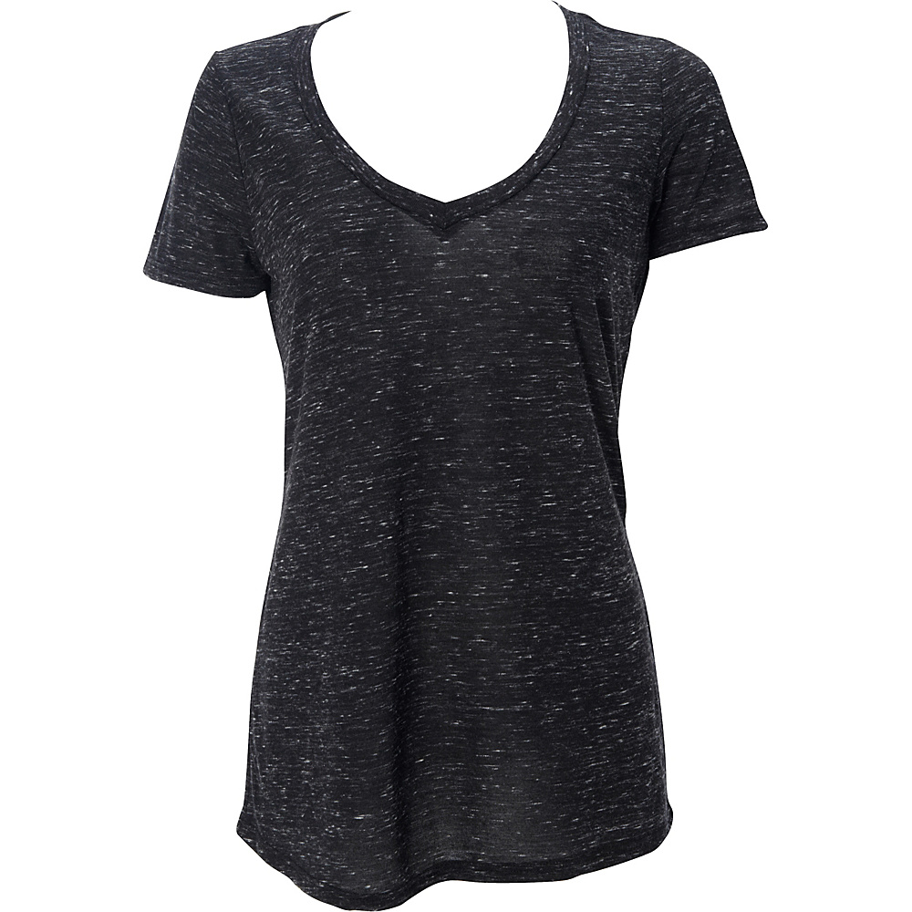 Simplex Apparel Caviar Womens Deep V Tee S - Black - Simplex Apparel Womens Apparel - Apparel & Footwear, Women's Apparel