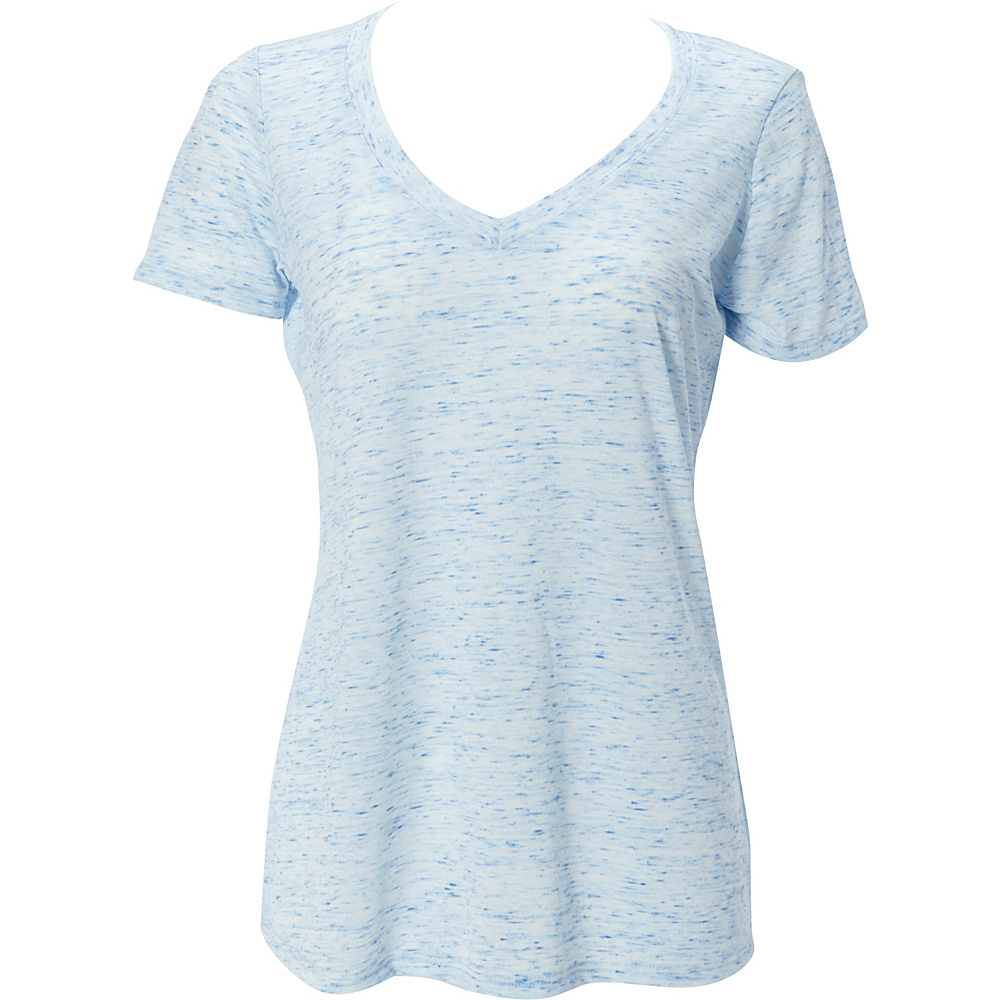 Simplex Apparel Caviar Womens Deep V Tee XL - Speckled Blue - Simplex Apparel Womens Apparel - Apparel & Footwear, Women's Apparel