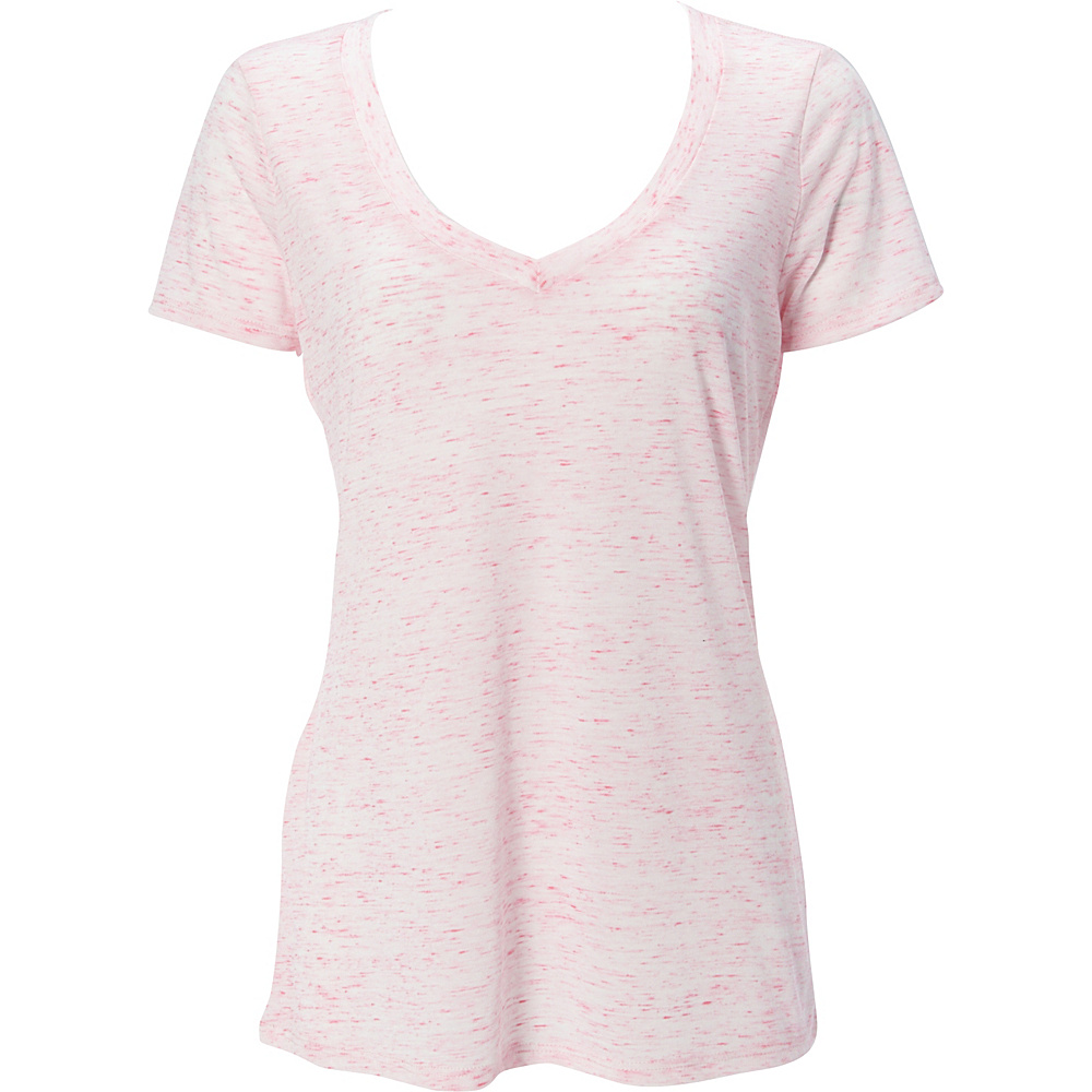 Simplex Apparel Caviar Womens Deep V Tee S - Speckled Pink - Simplex Apparel Womens Apparel - Apparel & Footwear, Women's Apparel
