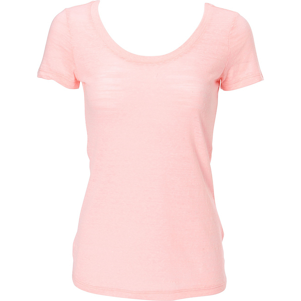 Simplex Apparel Triblend Slub Womens Scoop Tee S - Pink - Simplex Apparel Womens Apparel - Apparel & Footwear, Women's Apparel
