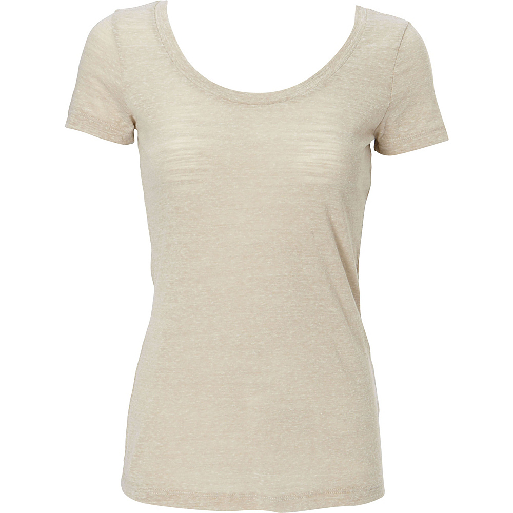 Simplex Apparel Triblend Slub Womens Scoop Tee L - Sand - Simplex Apparel Womens Apparel - Apparel & Footwear, Women's Apparel