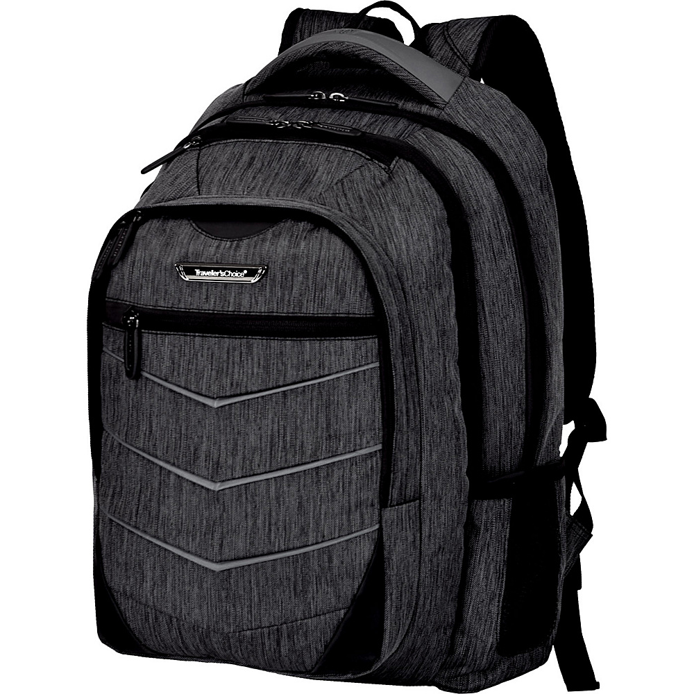 Traveler s Choice Silverwood 19 Backpack Gray Traveler s Choice Business Laptop Backpacks