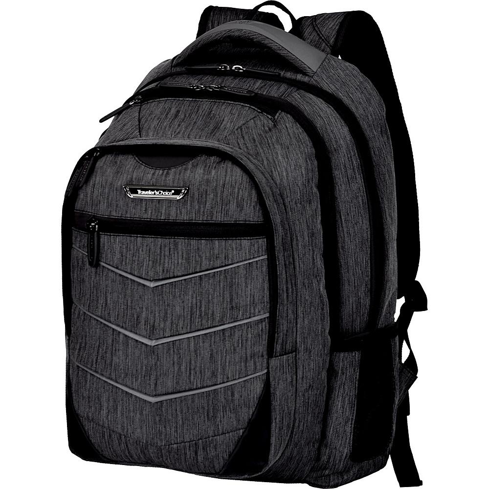 Traveler s Choice Silverwood 19 Backpack Gray Traveler s Choice Business Laptop Backpacks