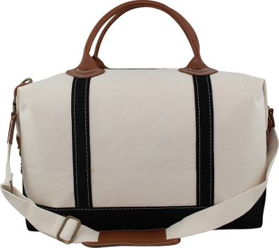 CB Station Weekender Bag Natural/Black - CB Station Travel Duffels