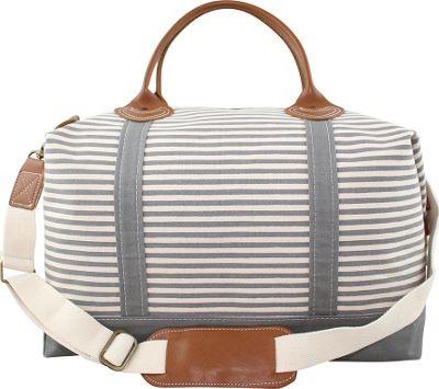 CB Station Weekender Bag Gray Stripes - CB Station Travel Duffels