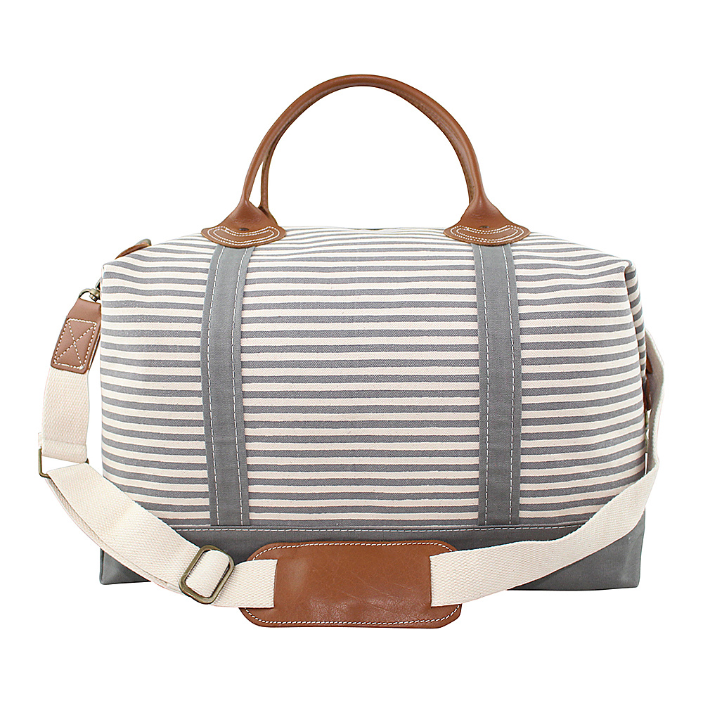 CB Station Weekender Bag Gray Stripes CB Station Travel Duffels