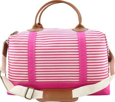 CB Station Weekender Bag Hot Pink Stripes - CB Station Travel Duffels