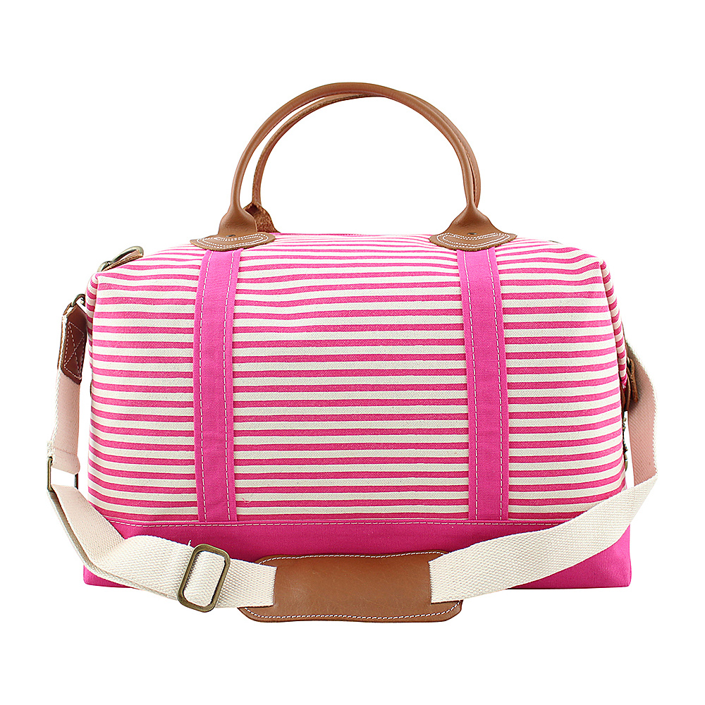 CB Station Weekender Bag Hot Pink Stripes CB Station Travel Duffels