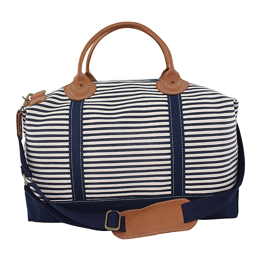 CB Station Weekender Bag Navy Stripes CB Station Travel Duffels