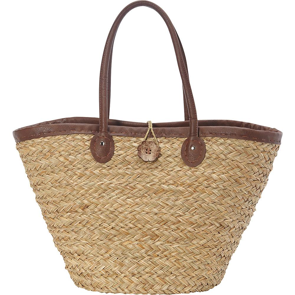 Sun N Sand Woodland Hue Tote Brown - Sun N Sand Straw Handbags - Handbags, Straw Handbags