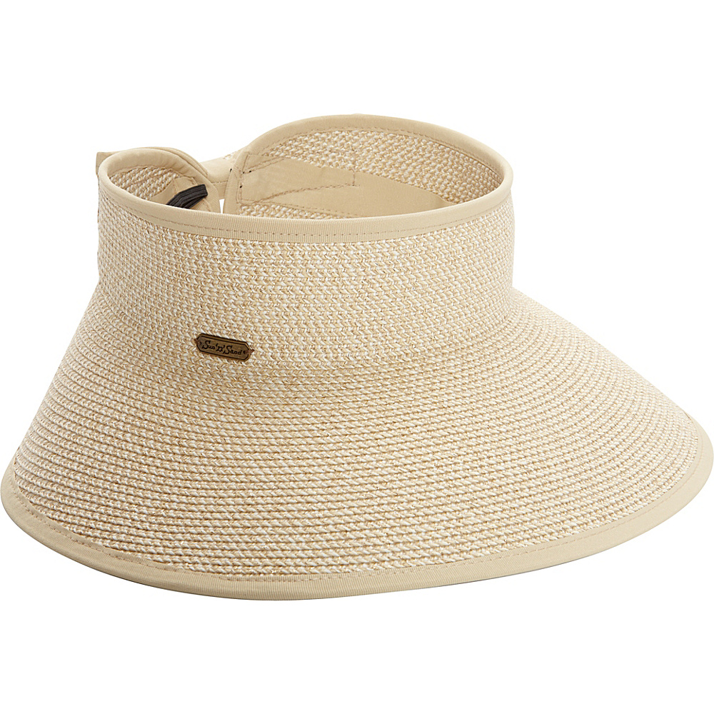 Sun N Sand Roll Up Visor One Size - Natural - Sun N Sand Hats/Gloves/Scarves - Fashion Accessories, Hats/Gloves/Scarves