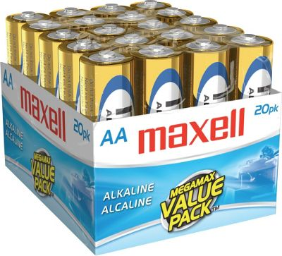 Maxell Gold Series Alkaline Battery Bulk Retail Pack Gold - Maxell Portable Batteries & Chargers