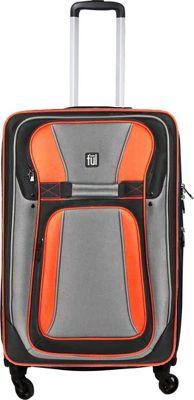 ful Delancey 28in Spinner Upright Softside Luggage Orange - ful Softside Checked