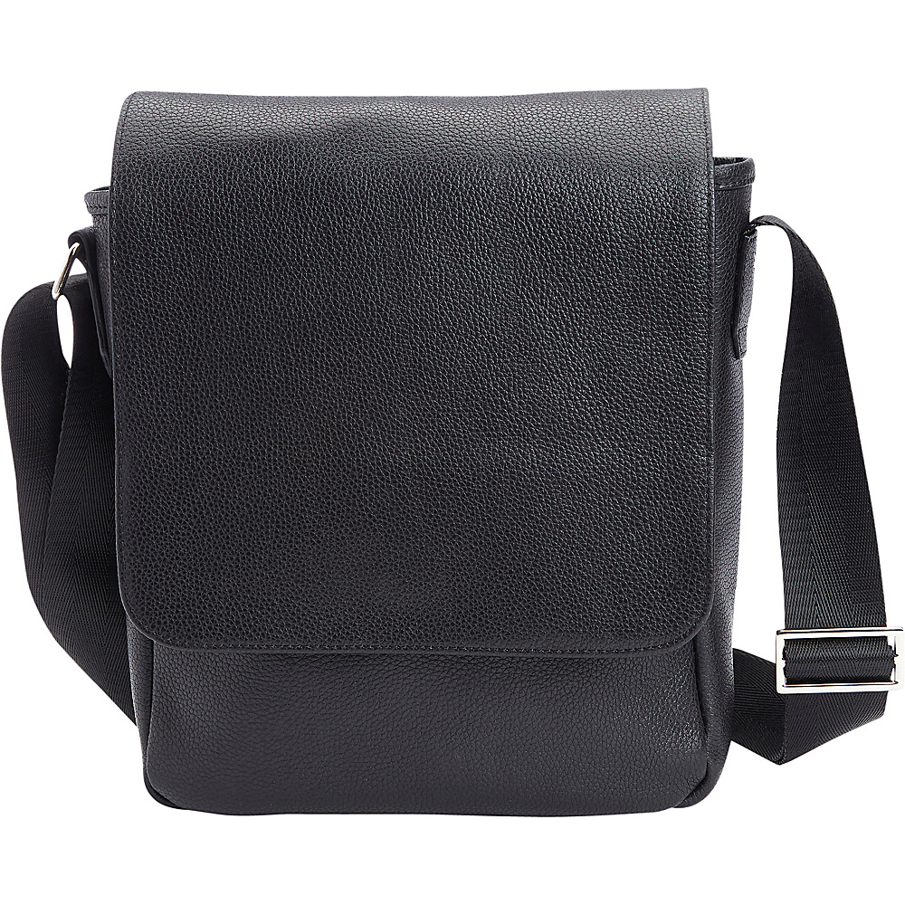 Royce Leather Luxury iPad Messenger Bag Handcrafted in Genuine Leater Black - Royce Leather Messenger Bags - Work Bags & Briefcases, Messenger Bags