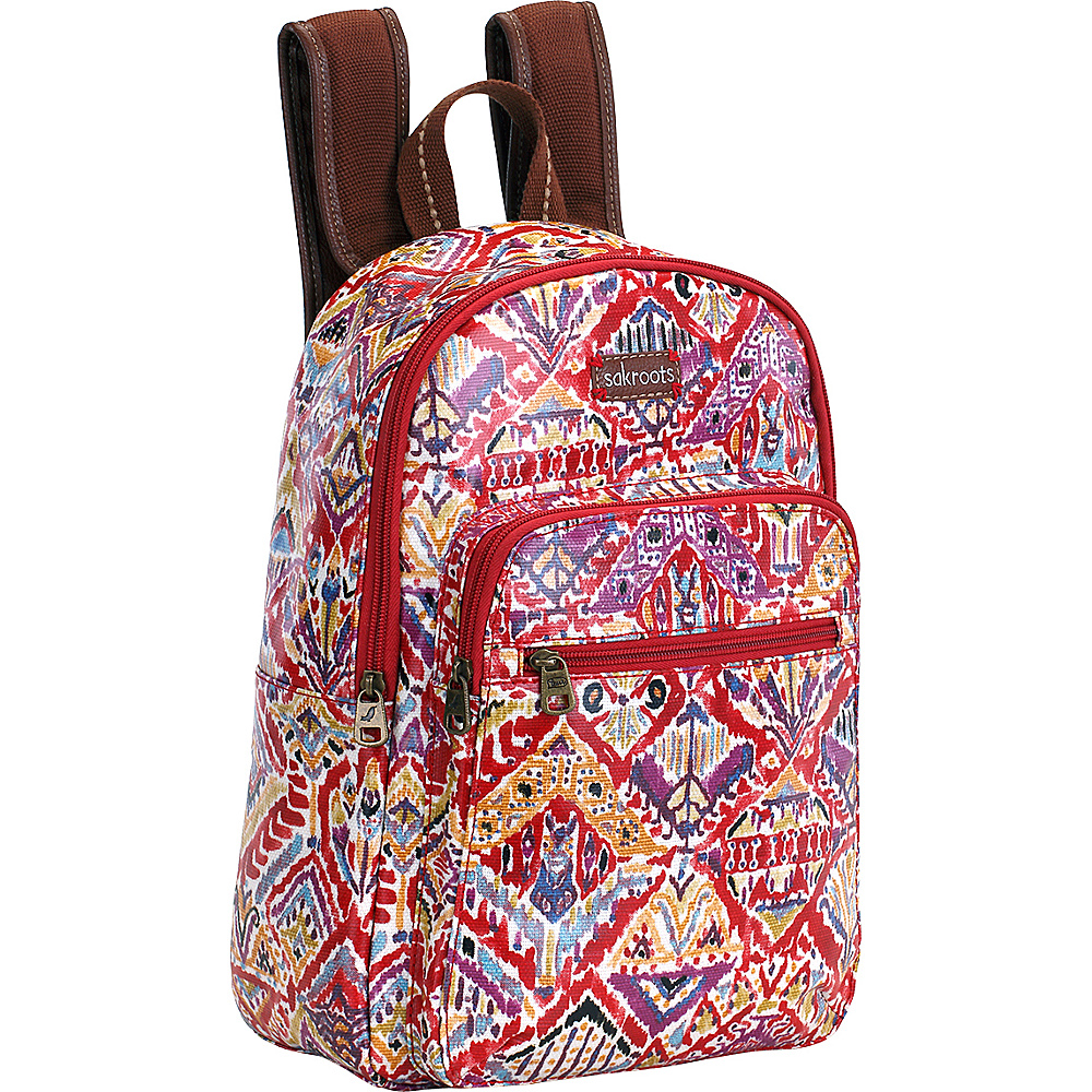 Sakroots Artist Circle Mini Backpack Sweet Red Brave Beauti - Sakroots School & Day Hiking Backpacks
