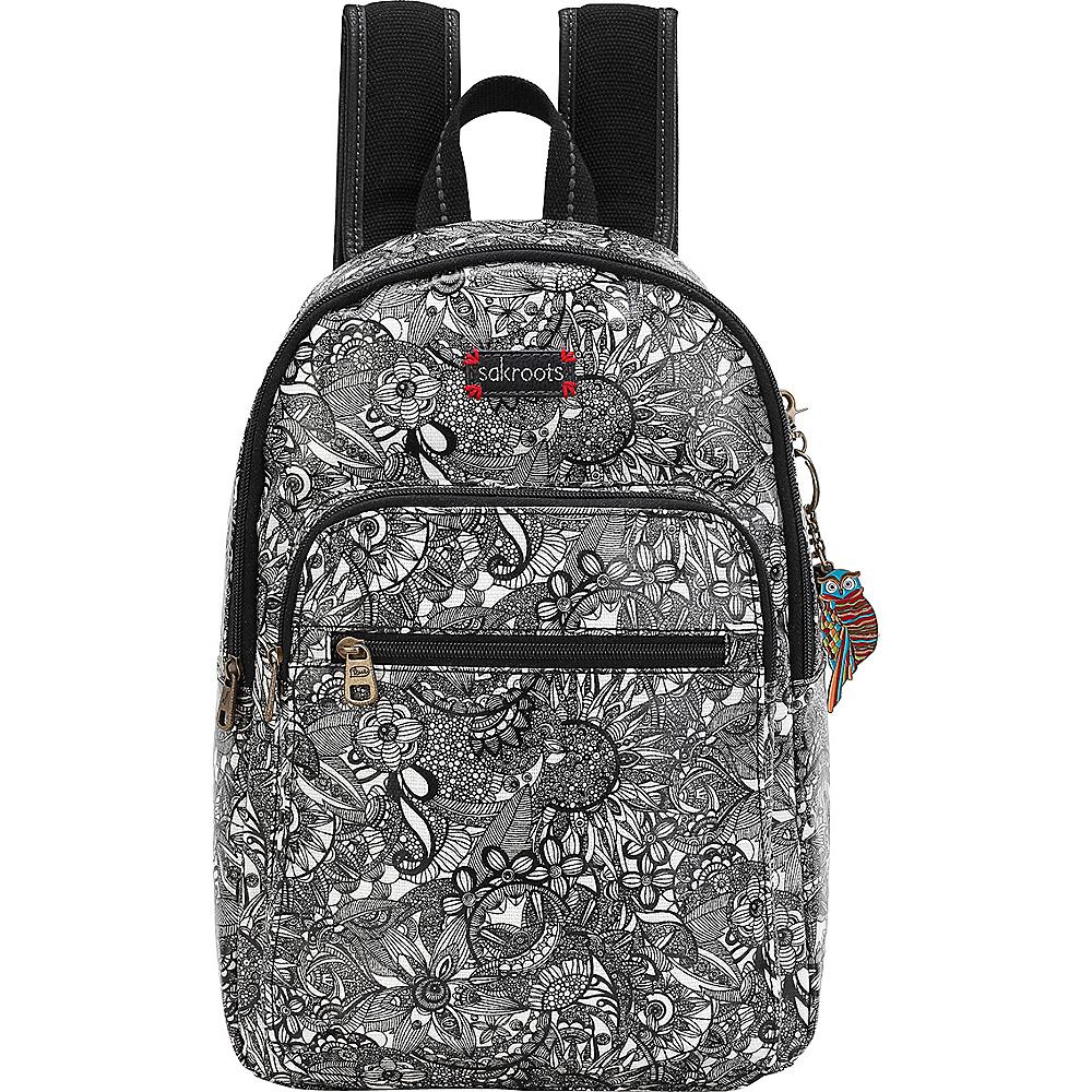 Sakroots Artist Circle Mini Backpack Black & White Spirit Desert - Sakroots Fabric Handbags