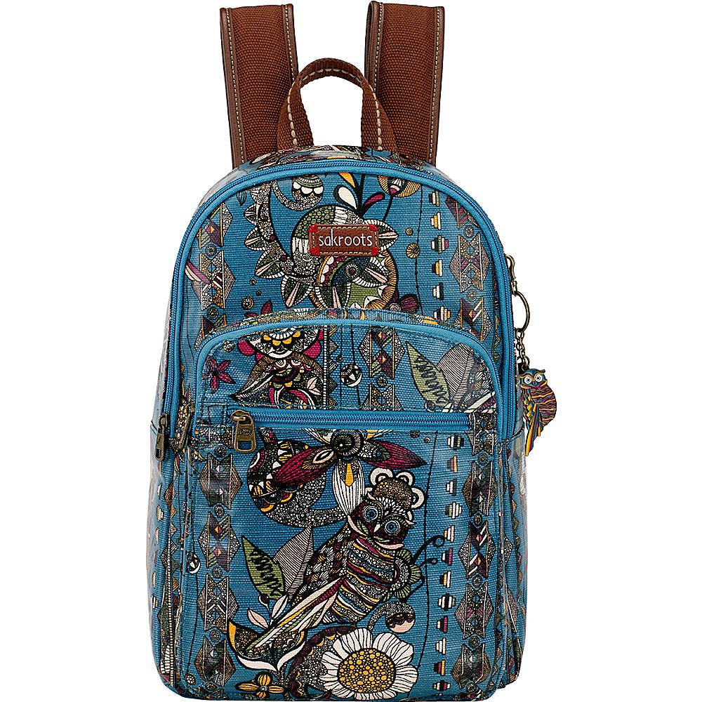 Sakroots Artist Circle Mini Backpack Lagoon Spirit Desert - Sakroots School & Day Hiking Backpacks