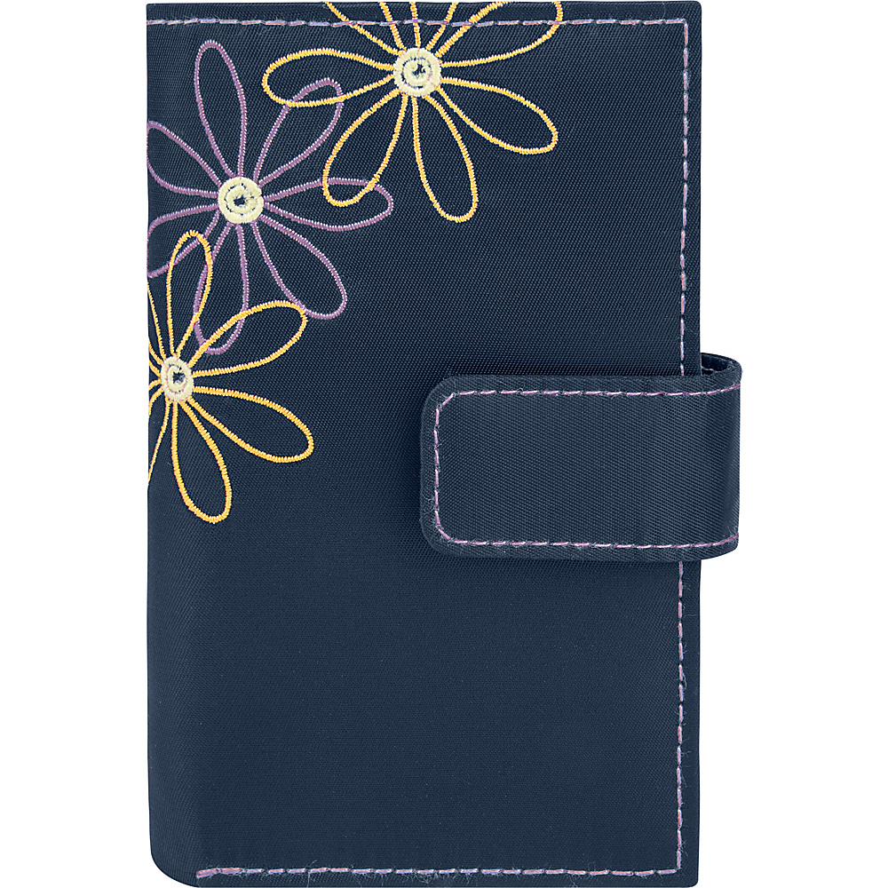 Travelon Safe ID Daisy Trifold Wallet Purple/Blue Interior - Travelon Womens Wallets - Women's SLG, Women's Wallets