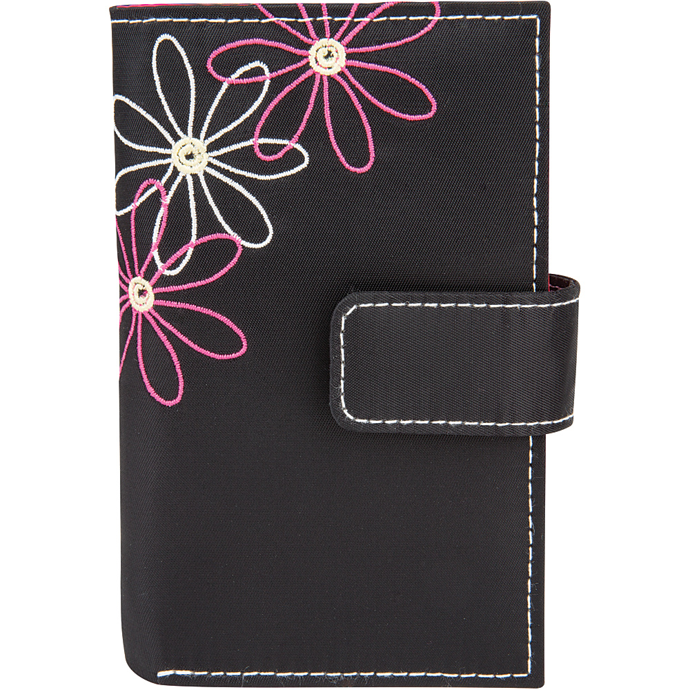 Travelon Safe ID Daisy Trifold Wallet Black/Pink Interior - Travelon Womens Wallets - Women's SLG, Women's Wallets