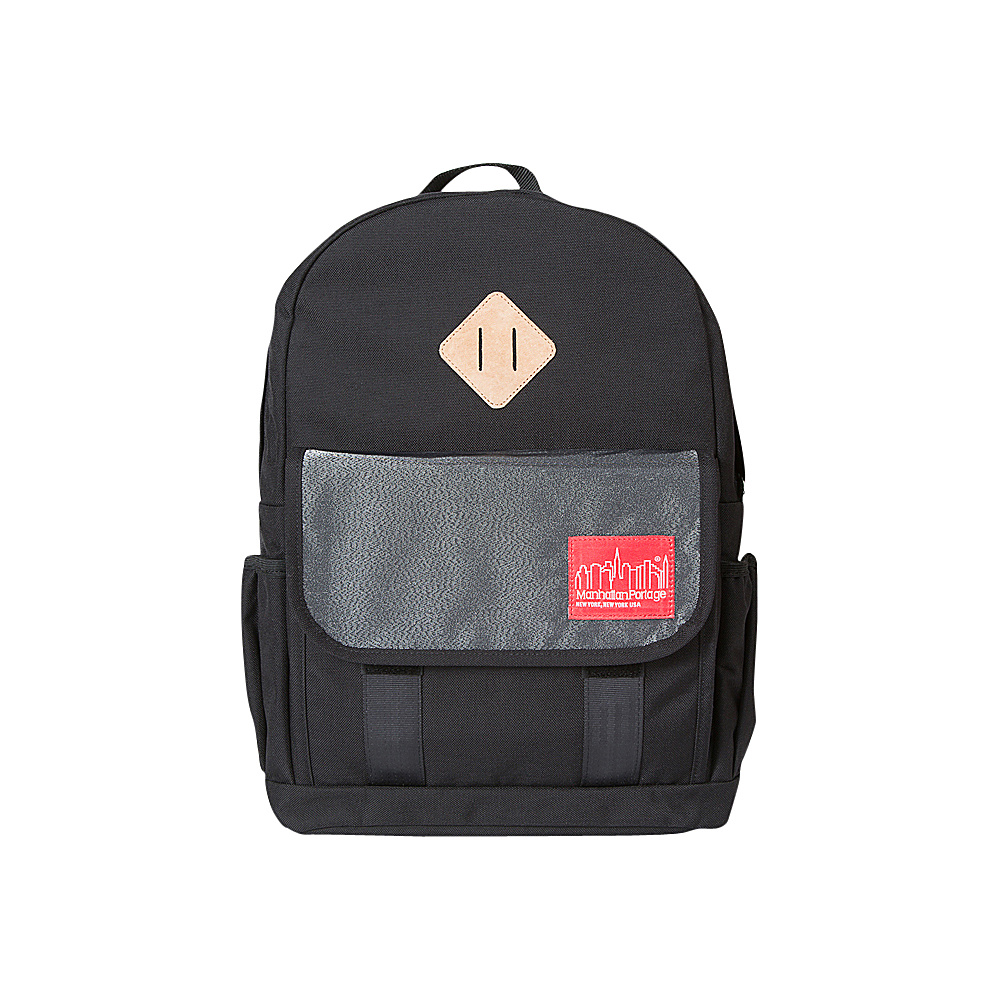 Manhattan Portage Reflective Washington Heights Backpack Black - Manhattan Portage Everyday Backpacks - Backpacks, Everyday Backpacks