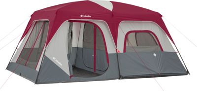 Columbia Sportswear Ashland 10 Person Tent Grey/Burgundy - Columbia Sportswear Outdoor Accessories