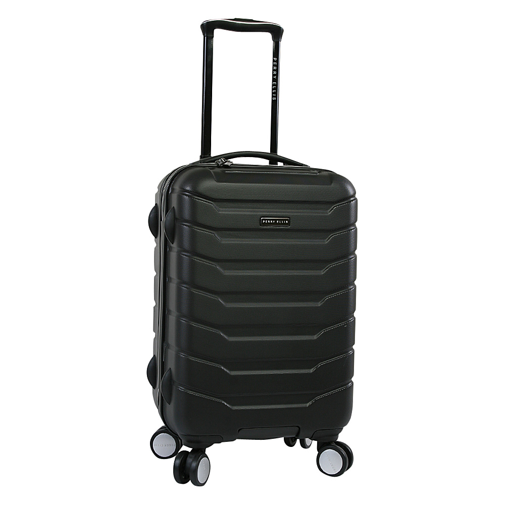 Perry Ellis Traction Hardside Spinner Carry-on Luggage Black - Perry Ellis Hardside Carry-On