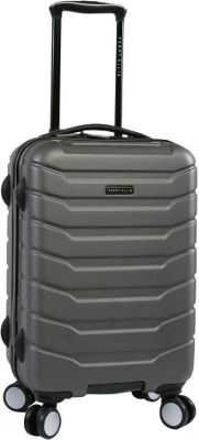 Perry Ellis Traction Hardside Spinner Carry-on Luggage Charcoal - Perry Ellis Hardside Carry-On