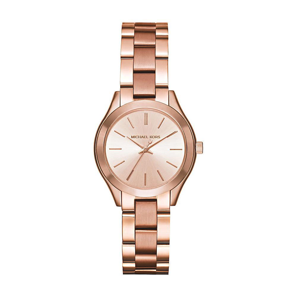 Michael Kors Watches Mini Slim Runway Three Hand Watch Rose Gold Michael Kors Watches Watches