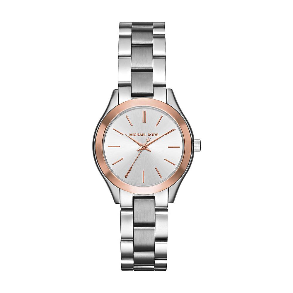 Michael Kors Watches Mini Slim Runway Three Hand Watch Silver/rose Gold Michael Kors Watches Watches
