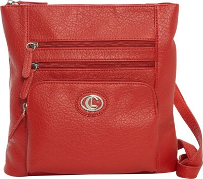 Aurielle-Carryland Zip Code N/S Crossbody Red - Aurielle-Carryland Manmade Handbags