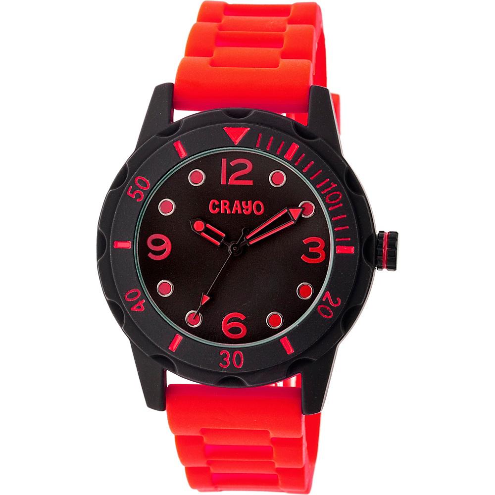 Crayo Splash Strap Watch Red Crayo Watches