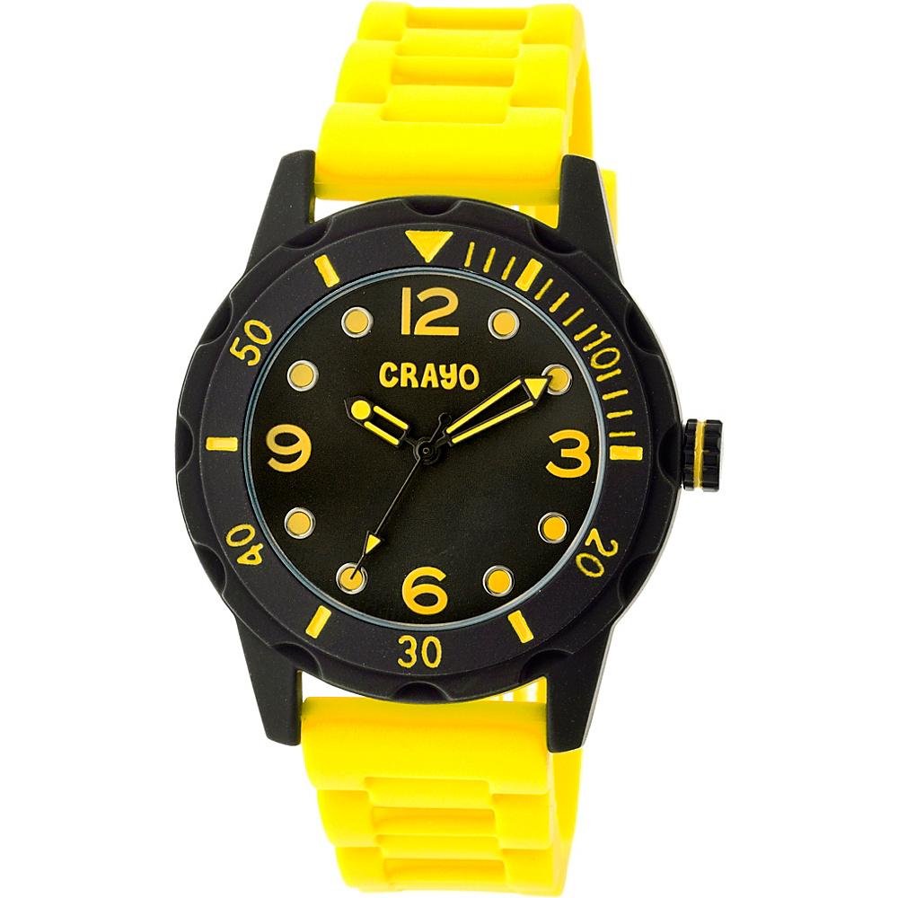 Crayo Splash Strap Watch Yellow Crayo Watches