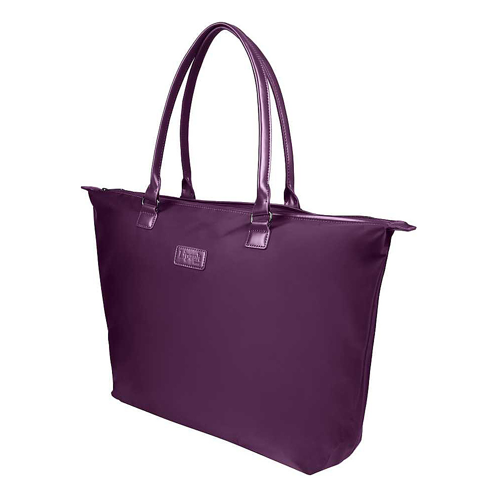 Lipault Paris Tote Bag Large Purple Lipault Paris Luggage Totes and Satchels